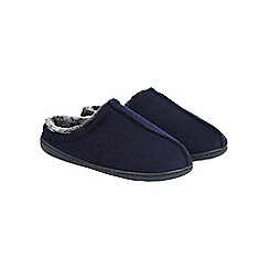 Burton - Navy textured mule slippers