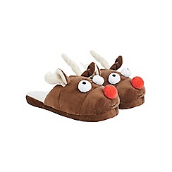 Burton - Brown Rudolph slippers