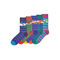 Burton - 5 pack monster faces socks