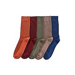 Burton - 5 pack autumnal waffle textured socks