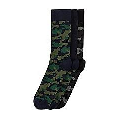 Burton - 3 pack camouflage print socks