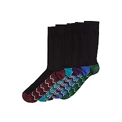 Burton - 5 pack zig zag footbed socks