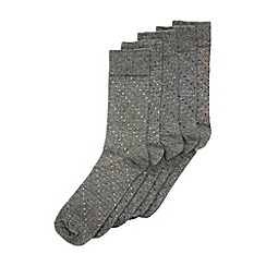 Burton - 5 pack grey pin dot patterned