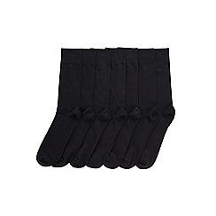 Burton - 7 pack black socks