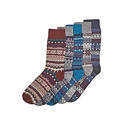 Burton - 5 pack winter fairisle socks