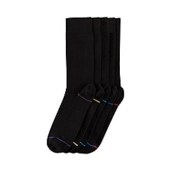 Burton - 5 pack black stripe socks