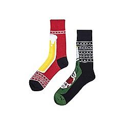 Burton - 2 pack novelty beer socks