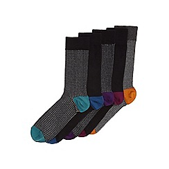 Burton - 5 pack grey circle textured socks