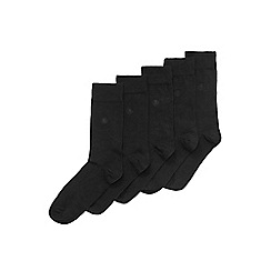 Burton - 5 pack black socks