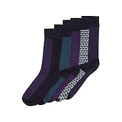Burton - 5 pack smart geo-pattern socks