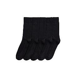 Burton - 5 pack black waffle textured socks
