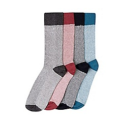 Burton - 4 pack multi colour fine stripe pattern socks