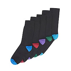 Burton - 5 pack black heel and toe socks