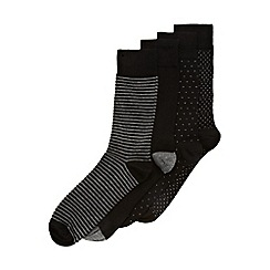 Burton - 5 pack black and grey mixed geo socks