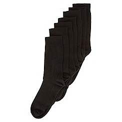 Burton - 7 pack black socks