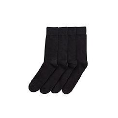 Burton - 4 pack black socks with cushioned heel