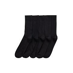 Burton - 5 pack black ribbed socks
