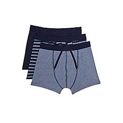 Burton - 3 pack navy grindle & stripe trunks