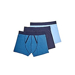 Burton - 3 pack navy, blue geo print trunks
