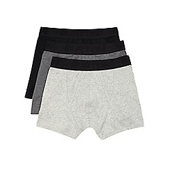 Burton - 3 pack black & grey trunks