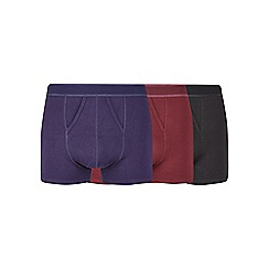 Burton - 3 pack black, navy and burgundy pique trunks