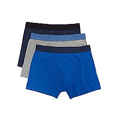 Burton - 3 pack navy blue charcoal trunks
