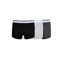Burton - 3 pack of black, grey and charcoal trunks