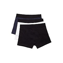 Burton - 3 pack black white and navy trunks
