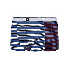 Burton - Montague burton 2 pack premium modal striped trunks