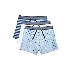 Burton - 3 pack of light blue print and stipe trunks