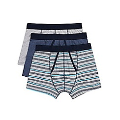 Burton - 3 pack grey and blue trunks