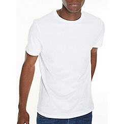 Burton - White basic crew neck t-shirt