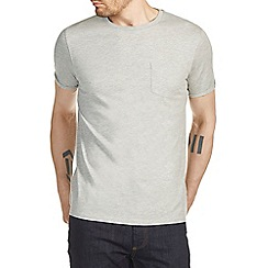 Burton - Grey marl roll sleeve t-shirt