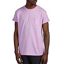 Burton - Violet marl roll sleeve t-shirt