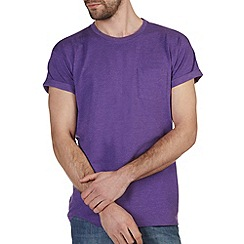Burton - Purple marl roll sleeve t-shirt