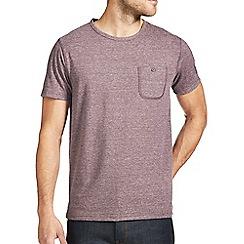 Burton - Burgundy trimarl crew t-shirt