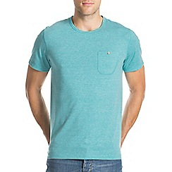 Burton - Teal green textured t-shirt