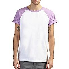 Burton - White & violet raglan t-shirt