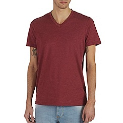 Burton - Red marl v neck t-shirt