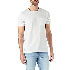 Burton - White roll sleeve t-shirt