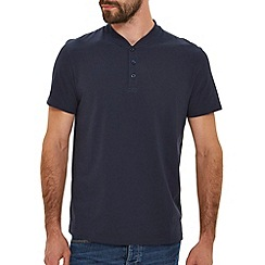 Burton - Navy baseball neck t-shirt