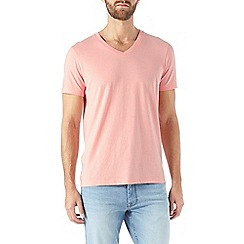 Burton - Light pink v-neck t-shirt