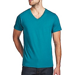 Burton - Teal green v-neck t-shirt