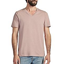 Burton - Dusky pink v-neck t-shirt