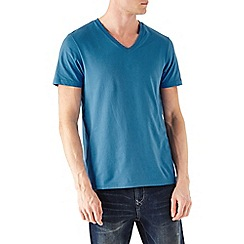 Burton - Blue basic v-neck t-shirt