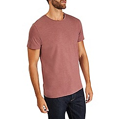 Burton - Burgundy crew neck t-shirt