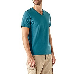 Burton - Green basic v-neck t-shirt