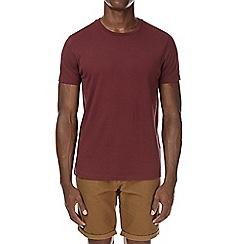 Burton - Cherry red basic crew neck t-shirt