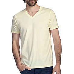 Burton - Lemon marl v neck t-shirt
