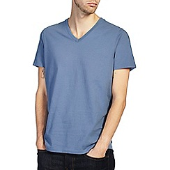 Burton - Dusky blue v-neck t-shirt